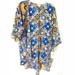 Lularoe Lindsay Floral Mosaic Print Kimono